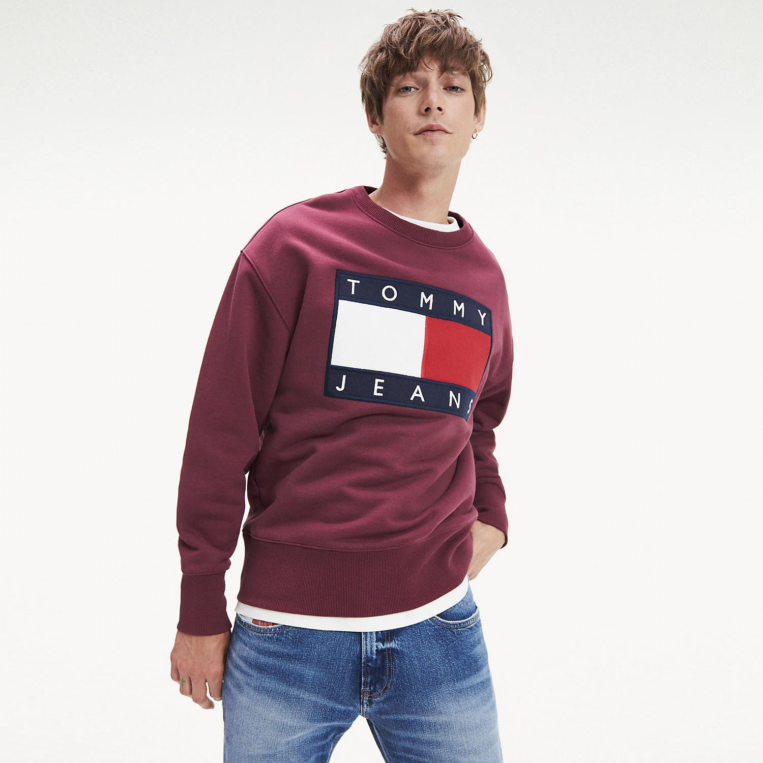 Tommy Jeans TOMMY FLAG CREW (9000039669_3359)