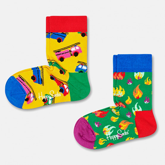 Happy Socks 2-Pack On Fire Socks
