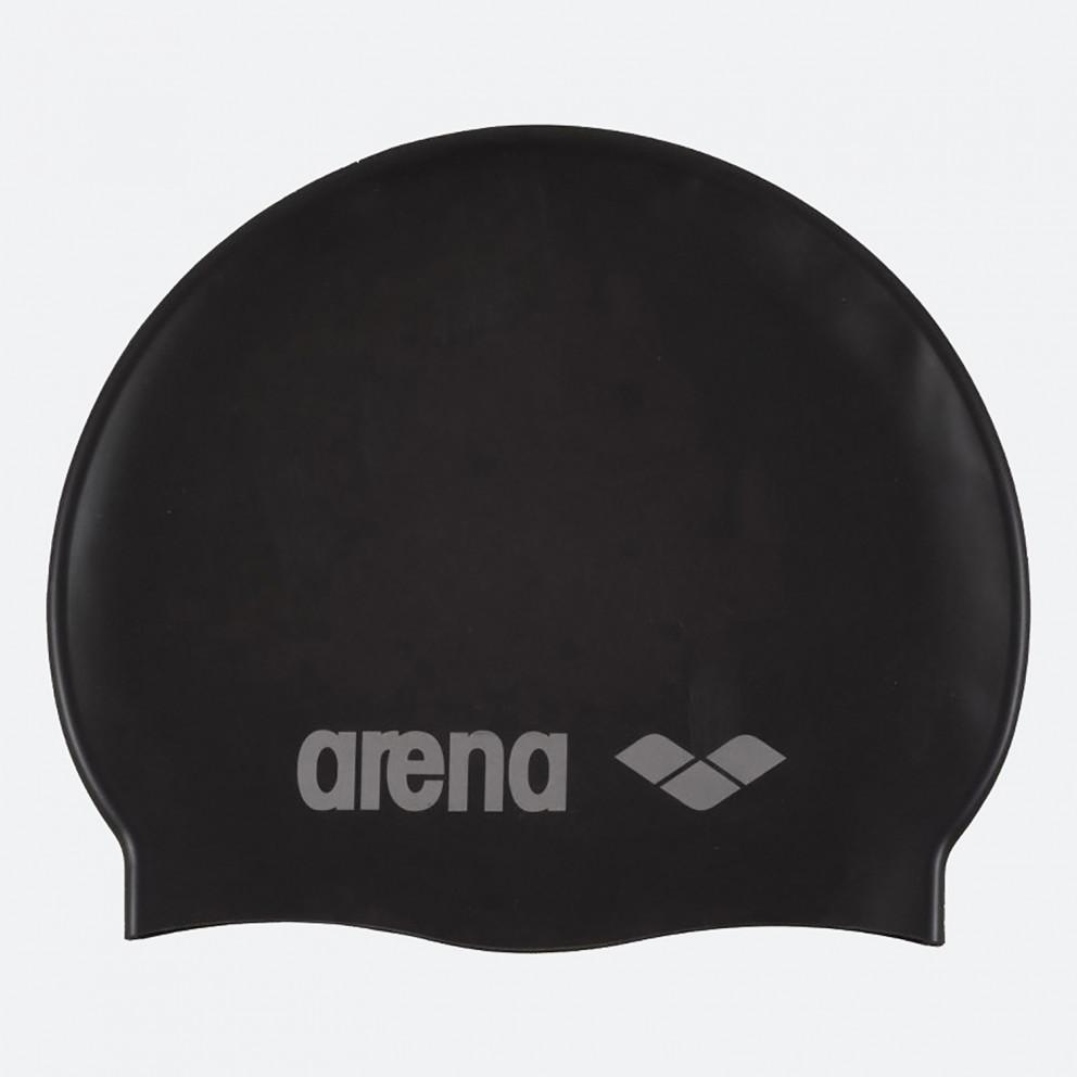 Arena Classic Silicone Caps Black-Silver