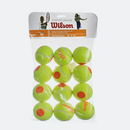 Wilson STARTER ORANGE TBALL 12 PACK ΜΠΑΛΕΣ