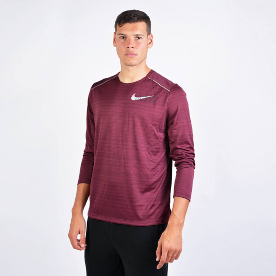 Nike M NK DF MILER LS FLASH NV
