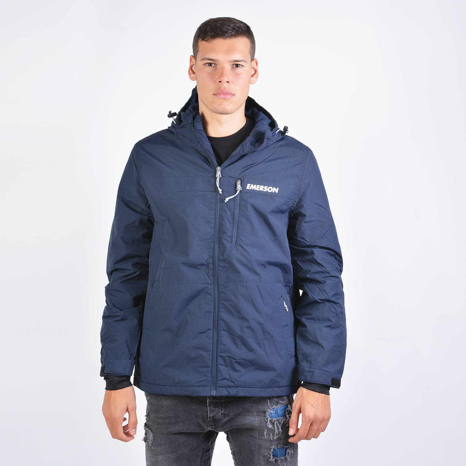 Emerson Men's Long Jacket With Hood (9000043009_35289)