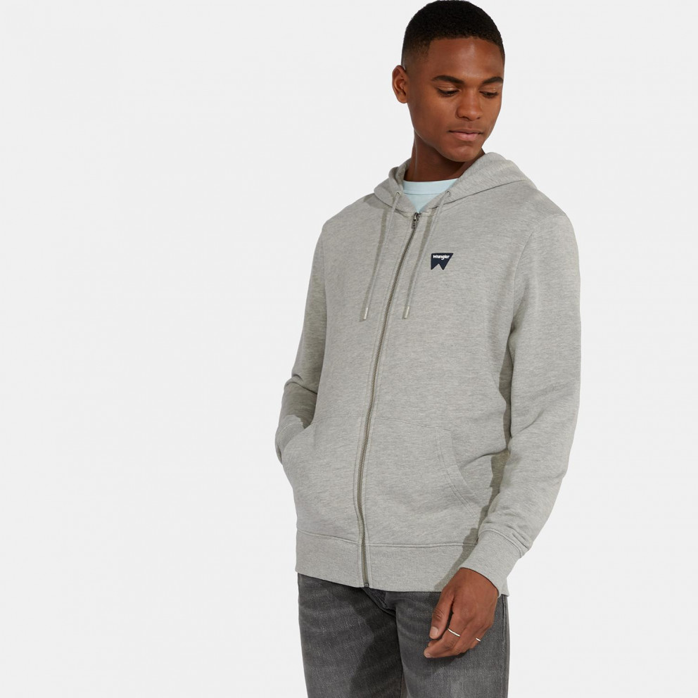 Wrangler Sign Off Zupthru Mid Grey Mel