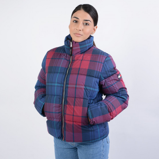 Tommy Jeans COTTON CHECK PUFFA JACKET