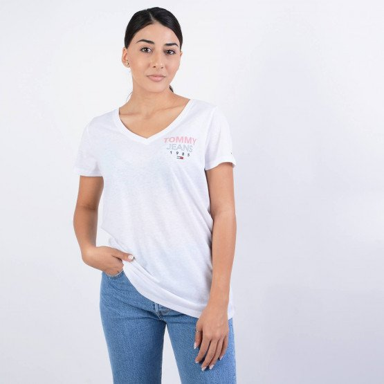 Tommy Jeans TJW ESSENTIAL V-NECK LOGO TEE