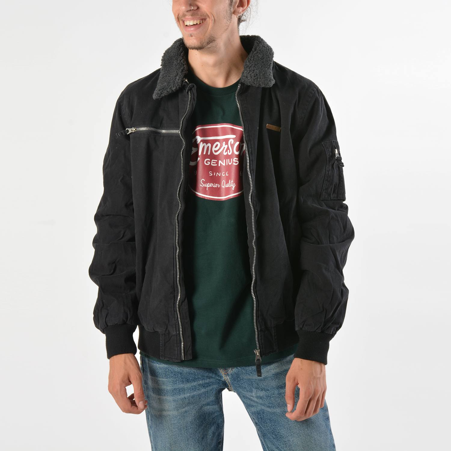Emerson Men's Jacket With Furon Collar (9000019106_4924)