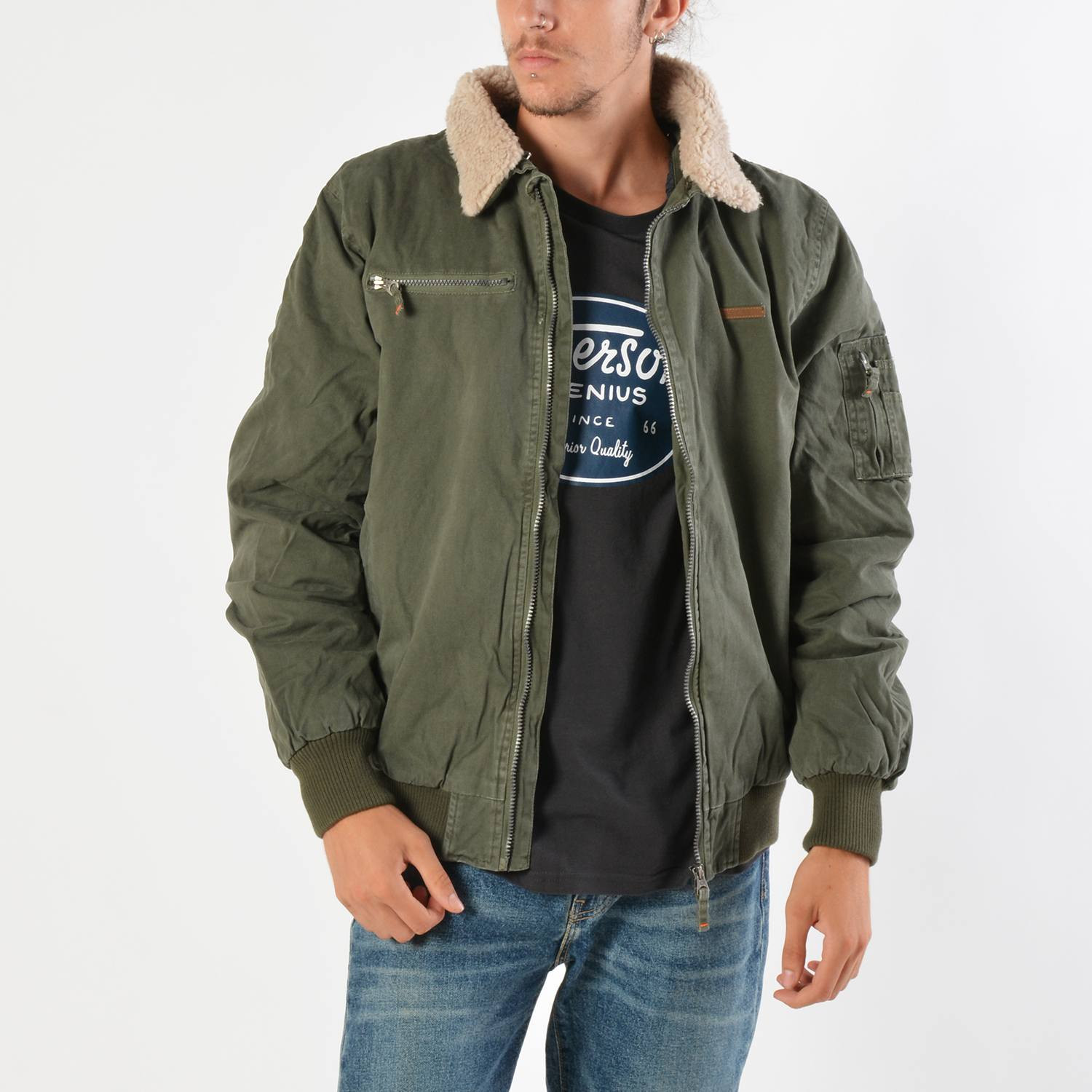 Emerson Men's Jacket With Furon Collar (9000019106_8393)