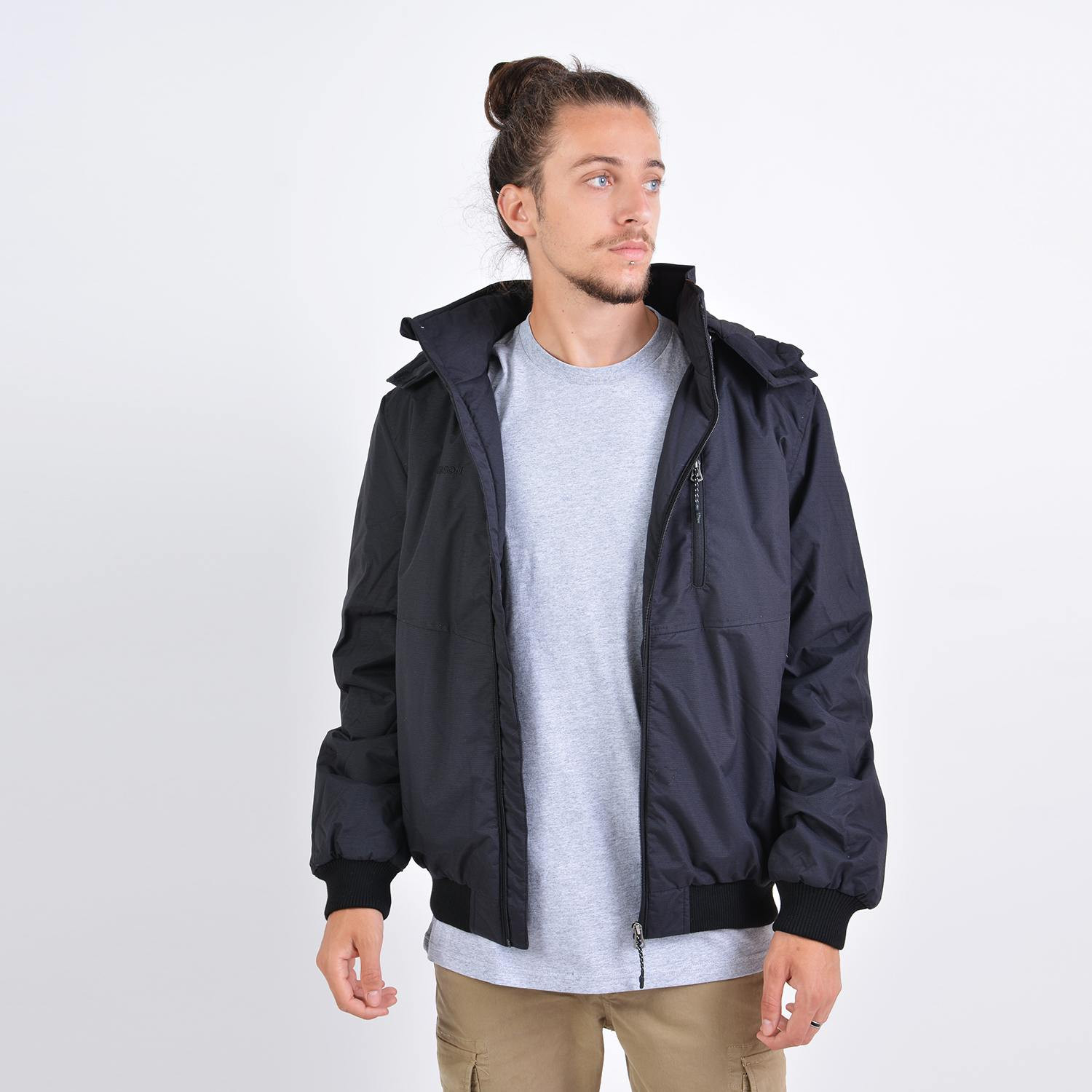 Emerson Men's Ribbed Jacket With Det/ble Hood (9000036089_40988)