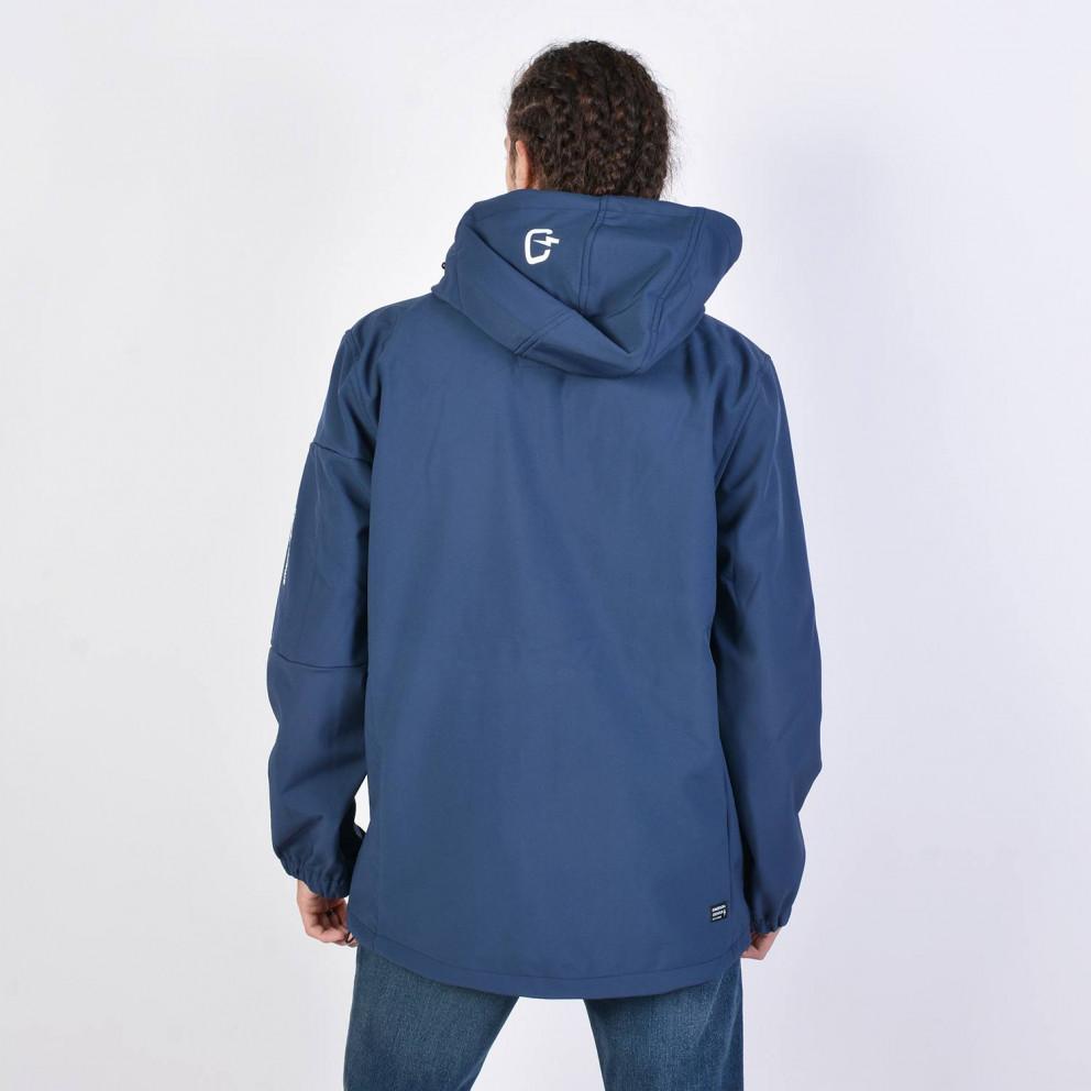 Emerson Men's Soft Shell Jacket, Det/ble Hood