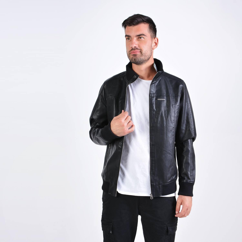 Emerson Men's Pu Ribbed Jacket (9000036103_27796)