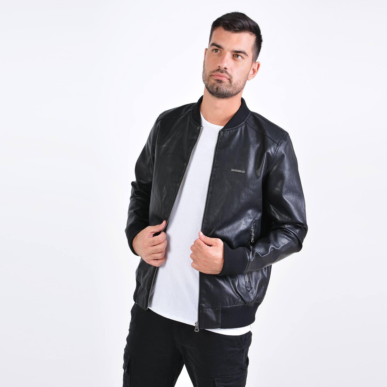 Emerson Men's Pu Ribbed Jacket (9000036104_27796)