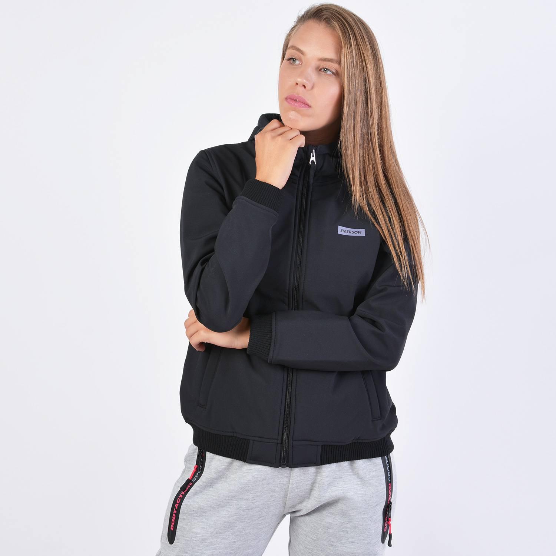 Emerson Women's Soft Shell Rib Jkt With Hood (9000036170_4909)