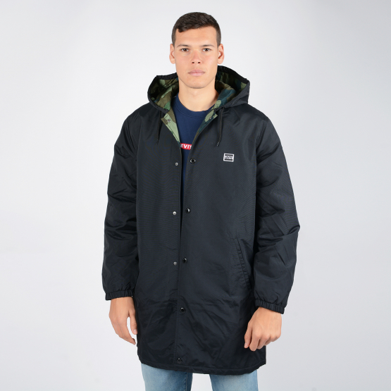 Levis HOODED COACHS JACKET CAVIAR