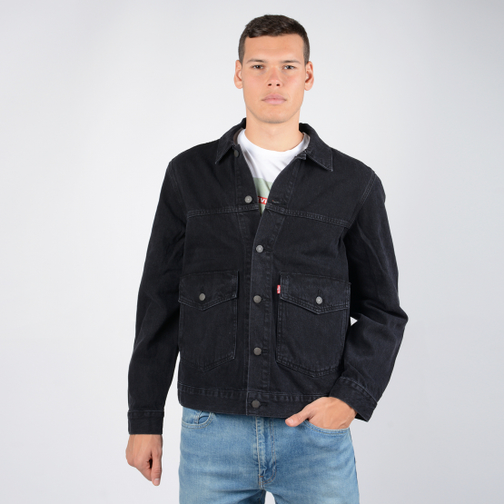 Levis PATCH POCKET TRUCKER BLACK BOX
