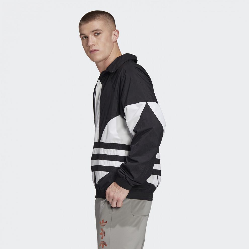 Adidas Orginals Mens Large Black Woven L//S Full Zip Track Top Jacket $75 Retro