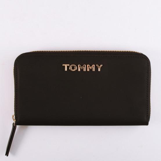 Tommy Jeans Νylon Large Zip Around Wallet Black