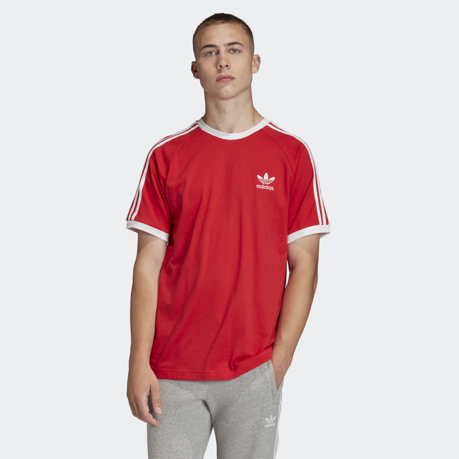 adidas Original 3-Stripes Men's Tee (9000045550_18021)