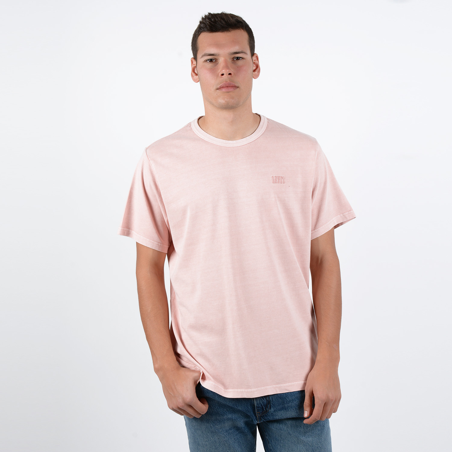 Levis Authentic Crewneck Tee Farallon X (9000048388_26107)