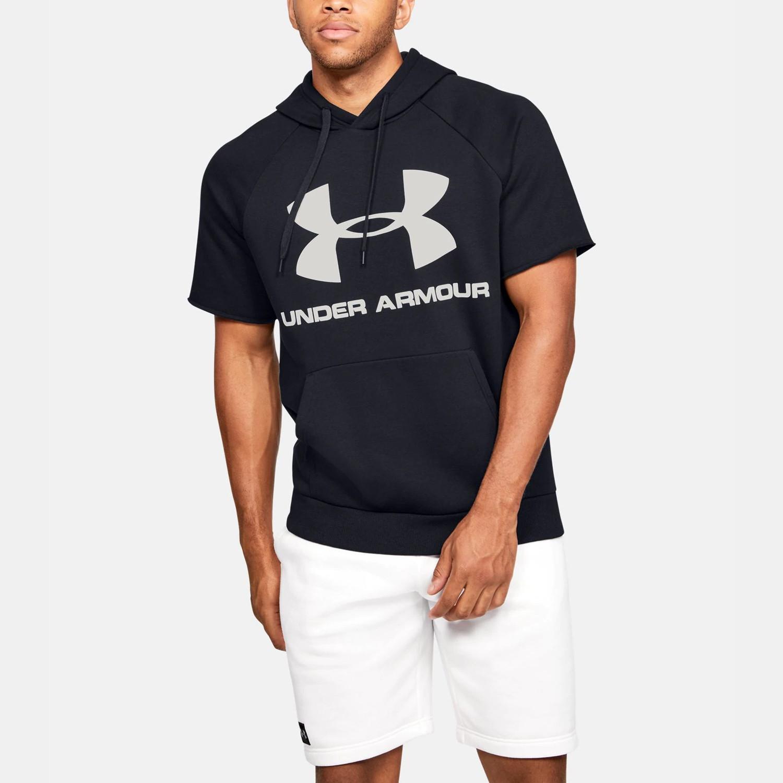 Under Armour Men's Rival Fleece Logo Short-Sleeve Hoodie (9000047884_44187)