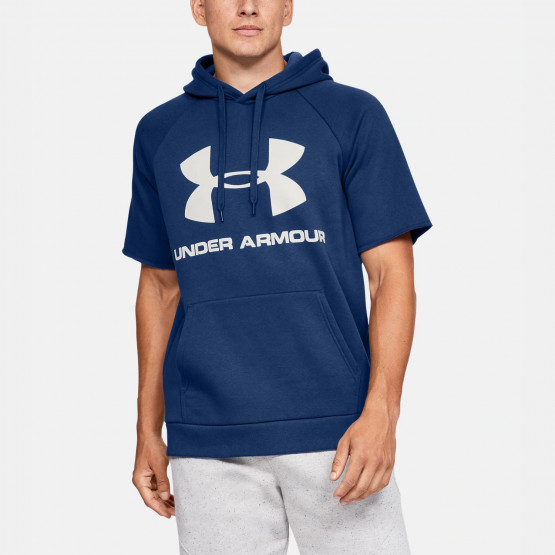 Under Armour Men's Rival FLeece Logo Short-SLeeve Hoodie
