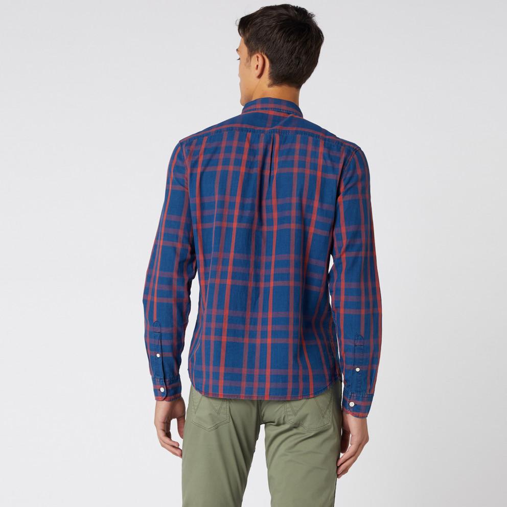Wrangler Ls 2 Pkt Flap Shirt Formula Red