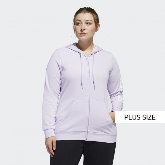adidas Performance Essentials Plus Size Hooded Track Jacket