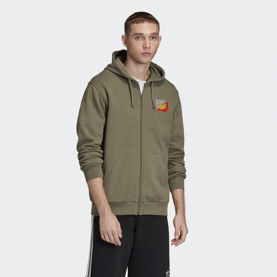 adidas Originals Diagonal Embroidered Men's Full Zip Hoodie