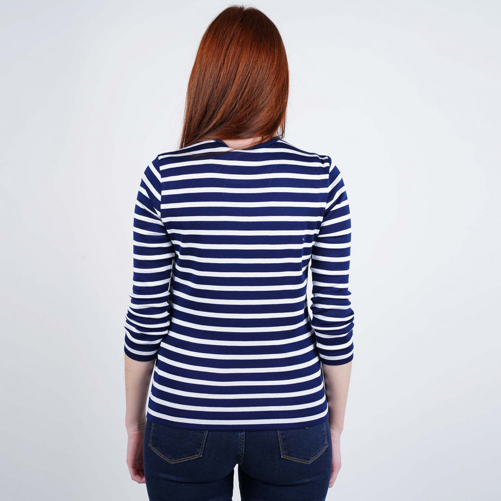 Polo Ralph Lauren Stripe 3/4 SLeeve Knitted Top