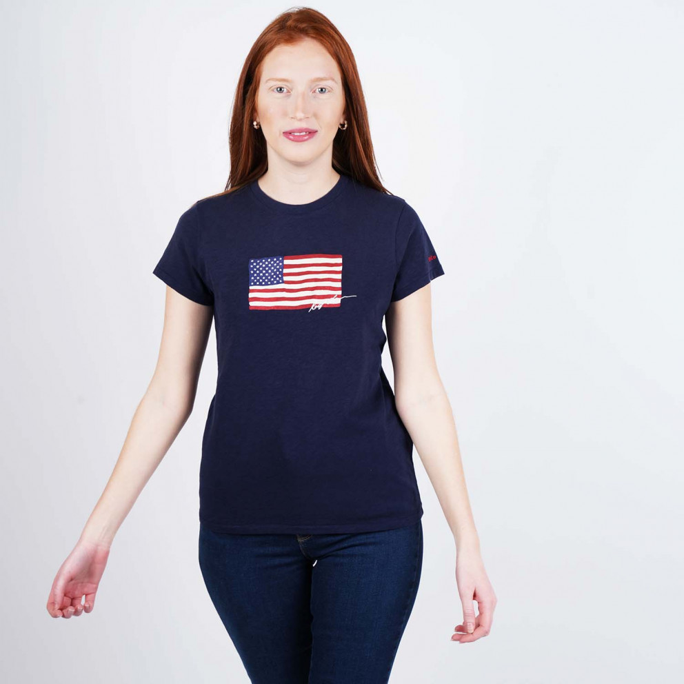 Polo Ralph Lauren Navy Flag Women's T-Shirt