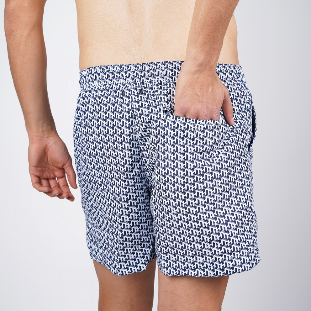 Tommy Jeans Medium Drawstring Printed Men's Swim Shorts