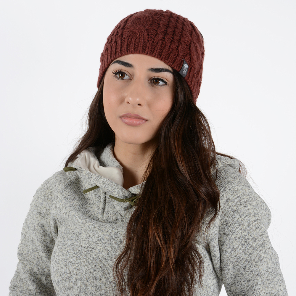 THE NORTH FACE CABLE MINNA BEANIE BAROLO RED (33116520014_29937)
