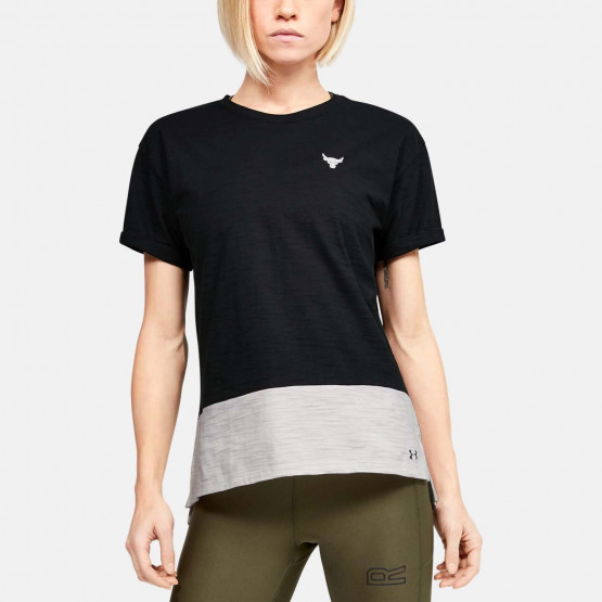 Under Armour Project Rock Women'S Charged Cotton Ss
