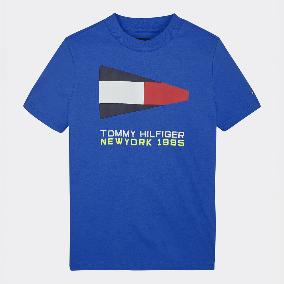 Tommy Jeans  Sailing Logo Print Organic Cotton T-Shirt For Kids