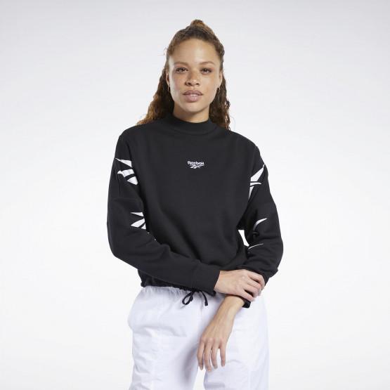 Reebok Sport Classics Vector Crew Crop Sweatshirt