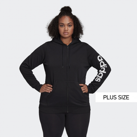 adidas Performance Essentials Plus Size Hooded Track Top