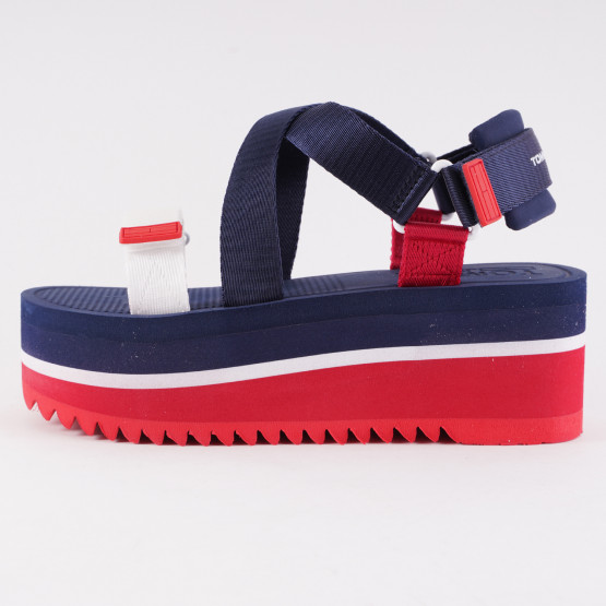 Tommy Jeans Colour-Blocked Women's Flatform Sandals