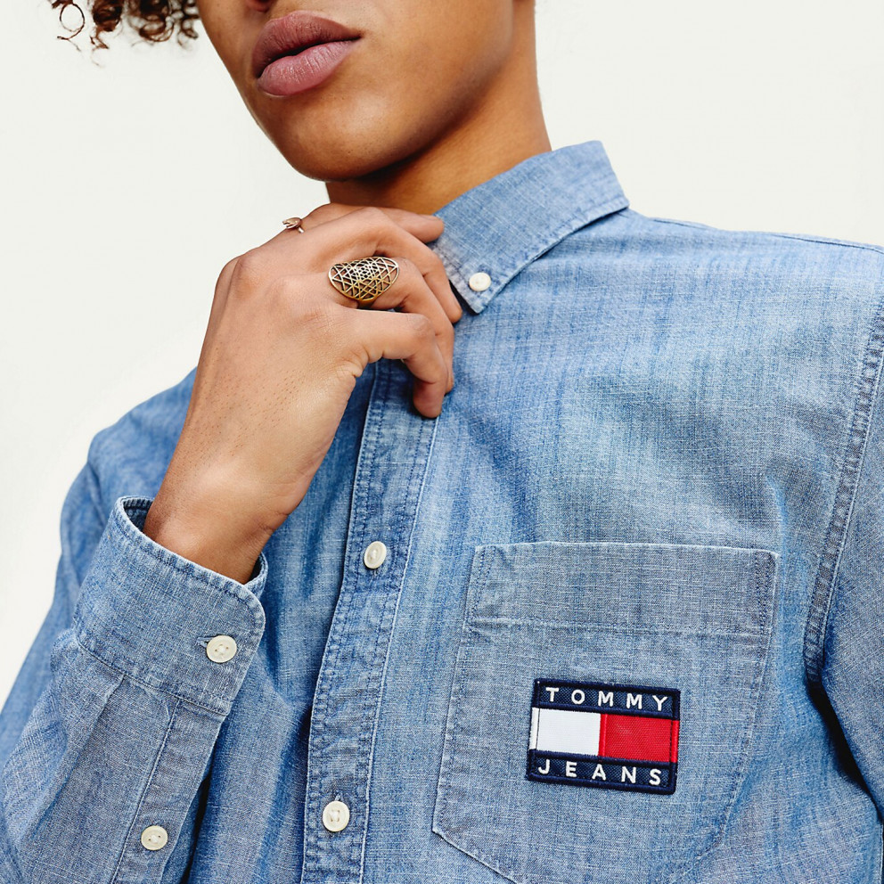 Tommy Jeans Chambray Badge Men's Shirt