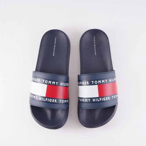 Tommy Jeans Youth Flag Logo Pool Slides
