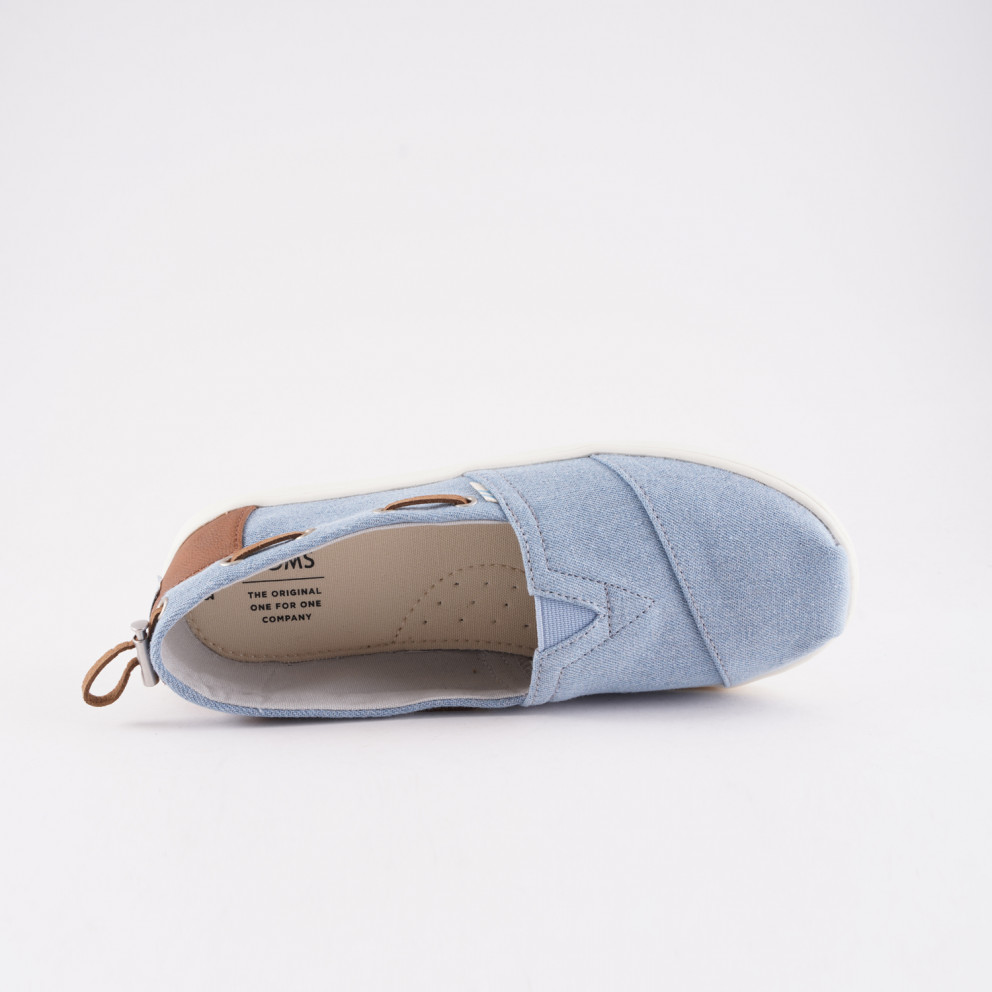 TOMS Navy Denim Kids' Espadrilles
