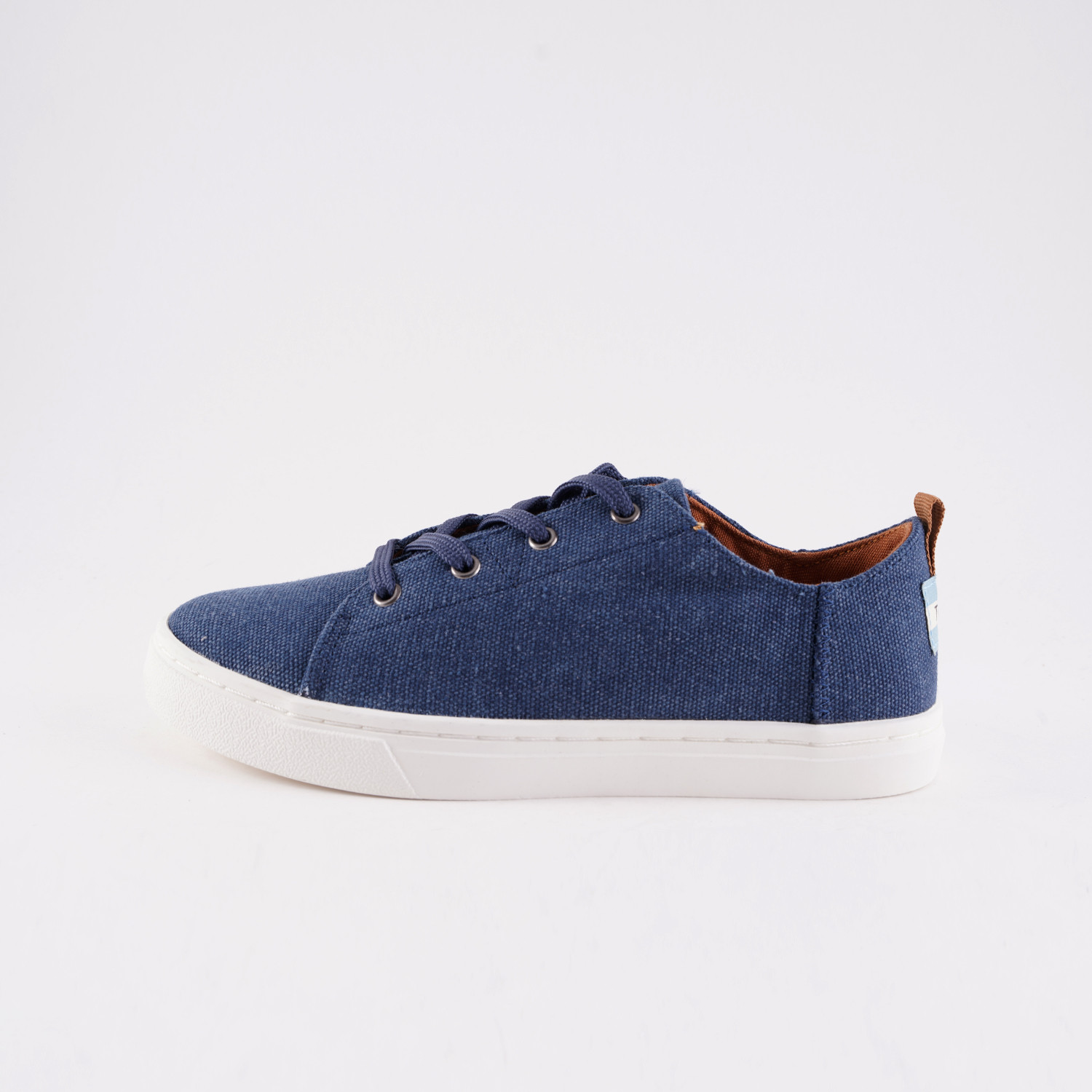 TOMS Navy Washed Canvas Lenny Sneak Kid' Shoes (9000051908_6707)