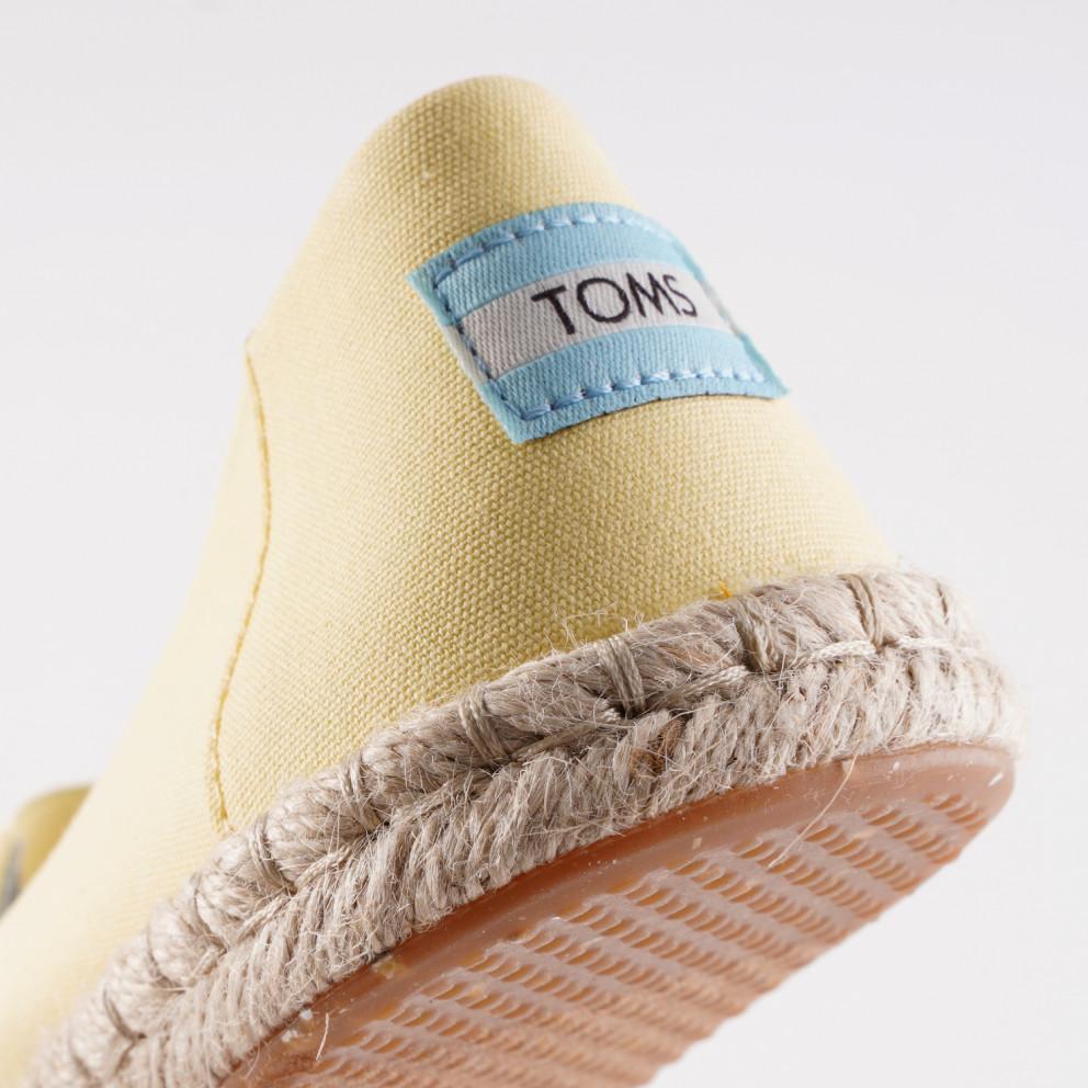 TOMS Plt Dye Yel Cvs/rope Women's Espadrilles