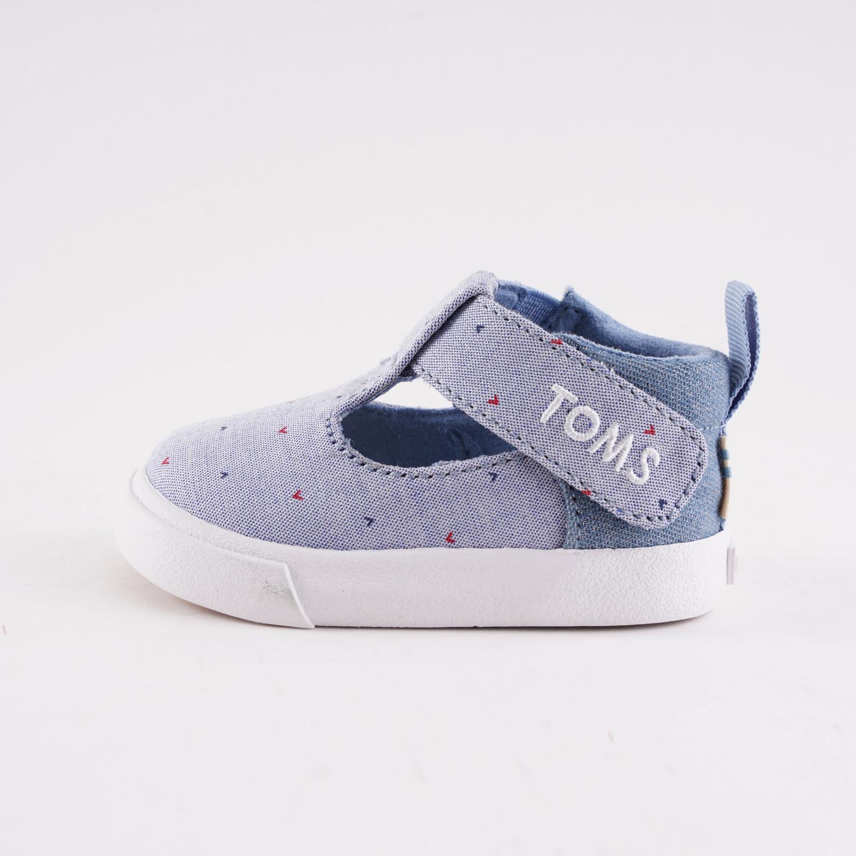 TOMS Blue Woven Denim Flat Infants' Shoes (9000051917_3024)