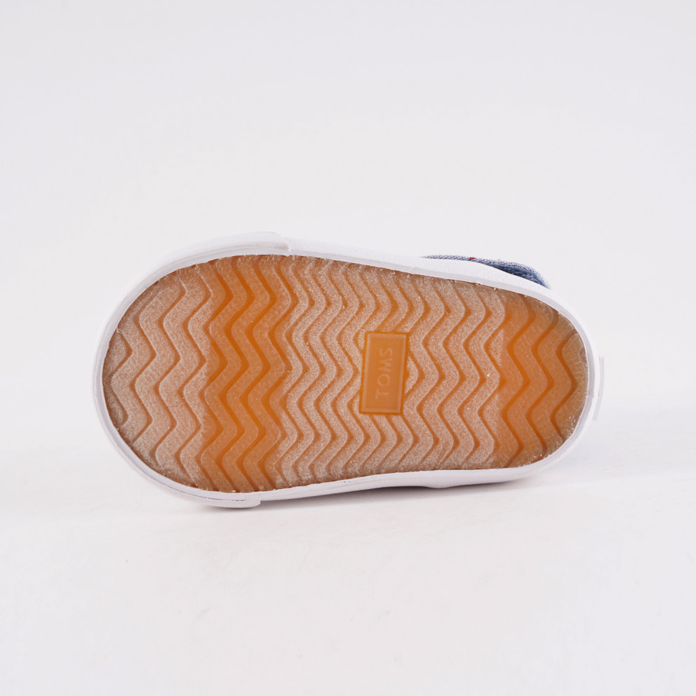 TOMS Blue Woven Denim Flat Infants' Shoes