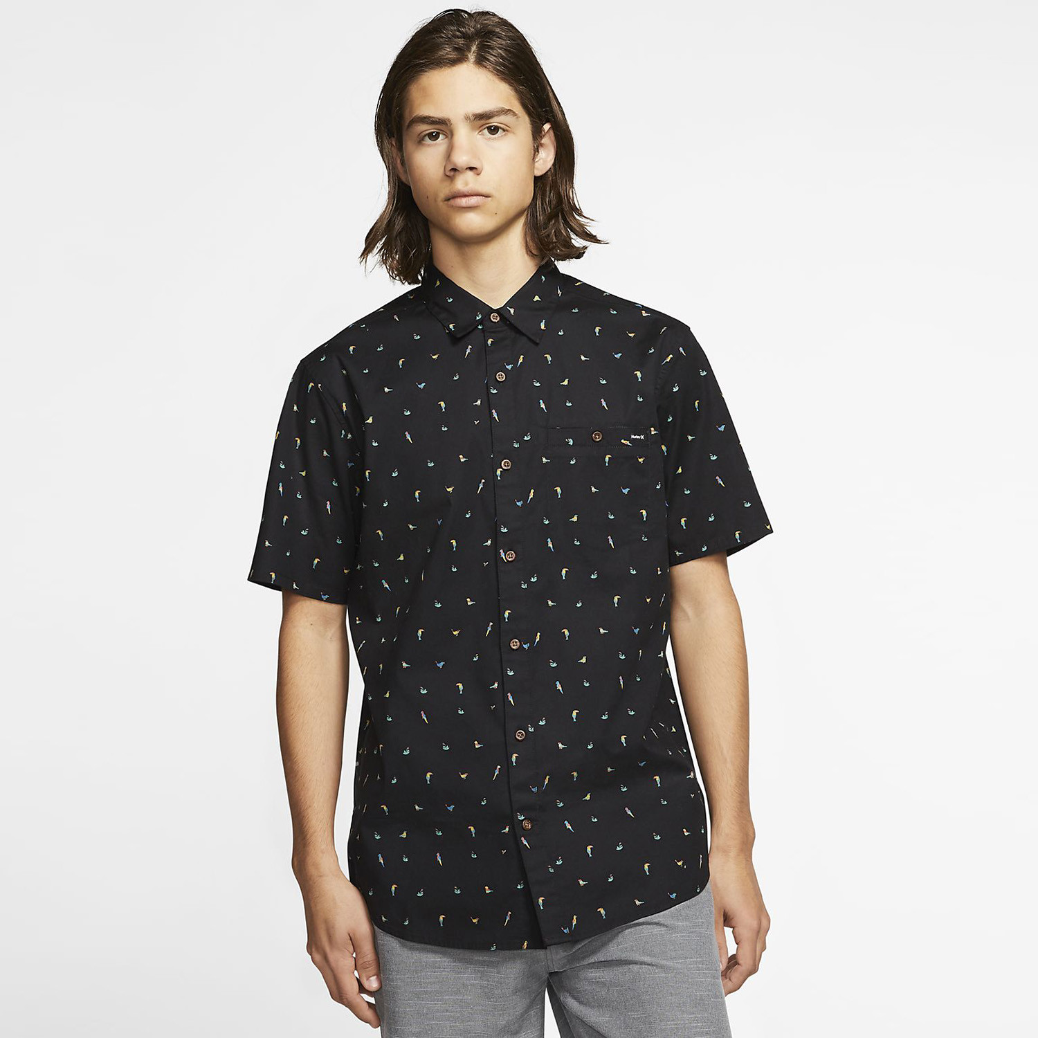 Hurley Birds Stretch Men's Short SLeeve Shirt (9000052293_1469)