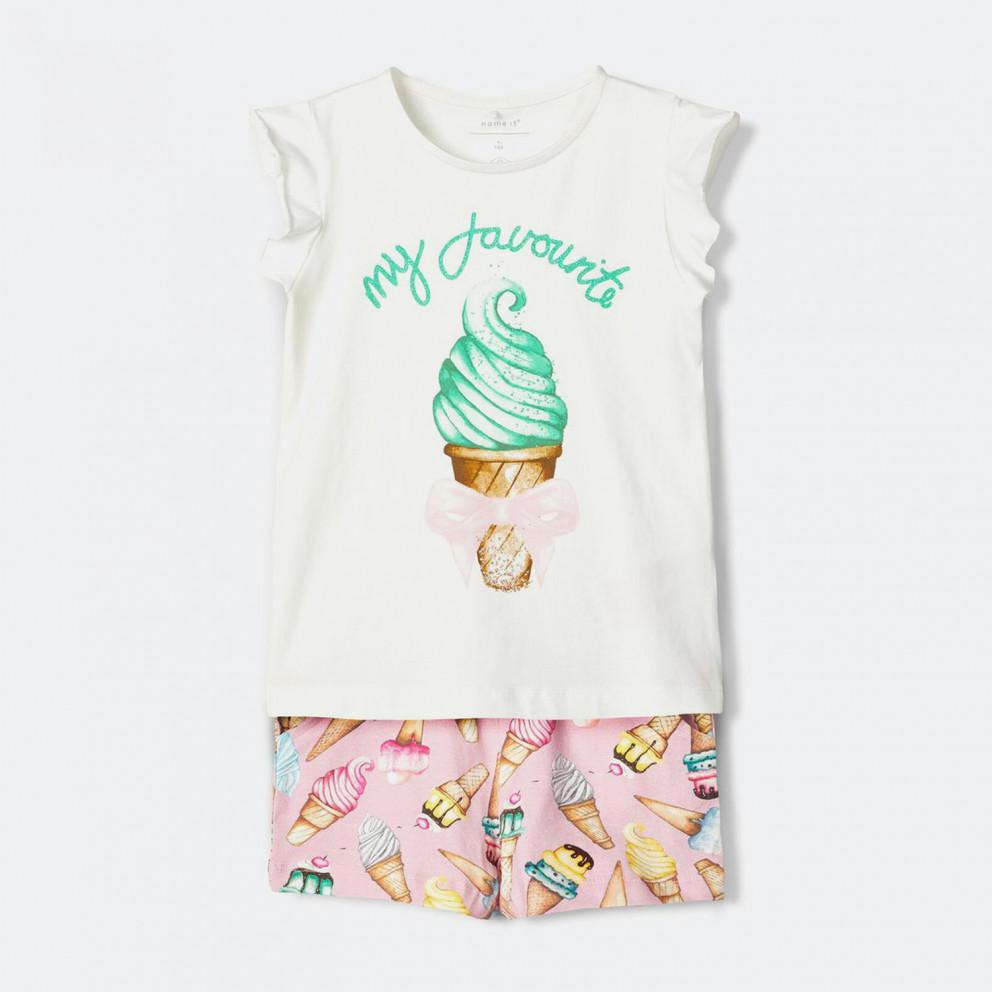 Name it Ice Cream Print Infants Shorts-Set