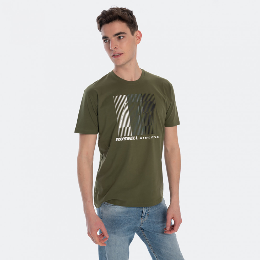 Russell Athletic Striped Crewneck Men's T-Shirt