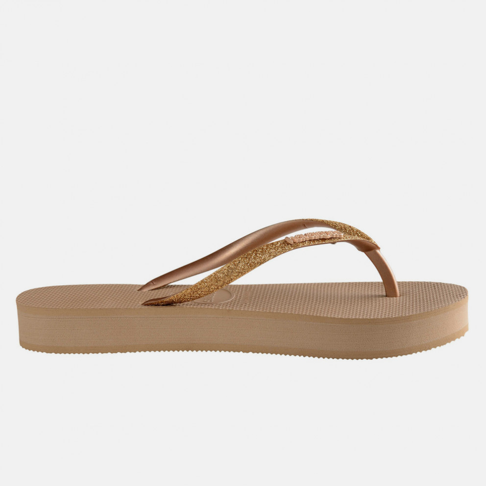 Havaianas Slim Flatform Glitter Flip Flops