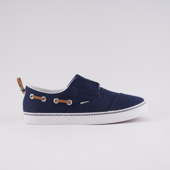 TOMS Navy Canvas Kids' Espadrilles