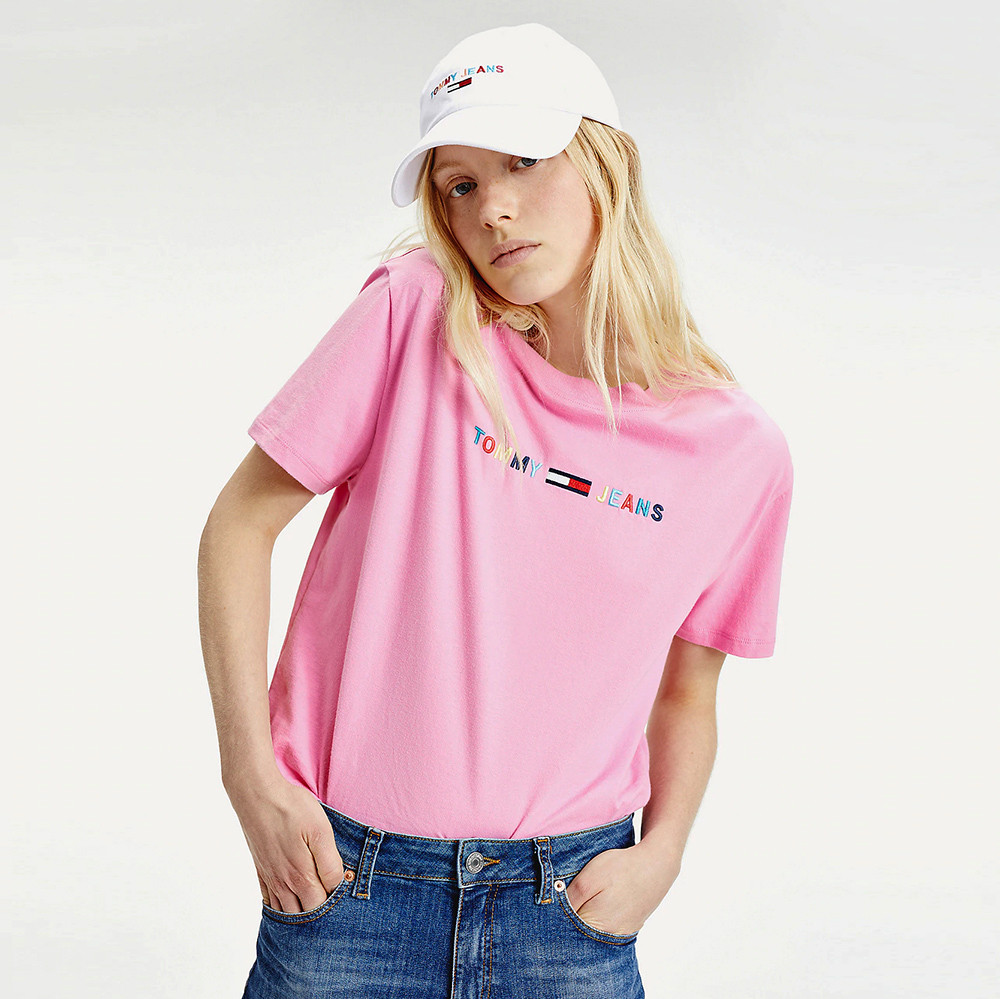 Tommy Jeans Colored Linear Women's Crop Tee (9000050997_45069)