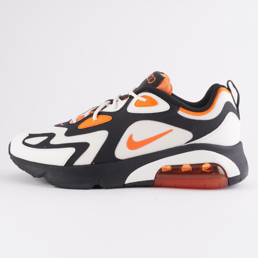 air max 200 black/magma orange